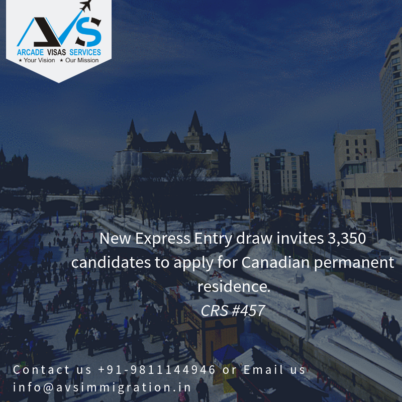 New Express Entry draw invites 3,350 candidates to apply for Canadian permanent residence